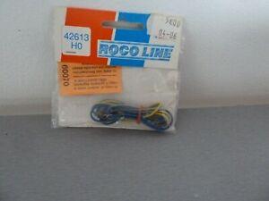 Roco-Line-Paire-d-039-eclisses-avec-cable-bipolaire-d-039-alimentation-des-voies-42613