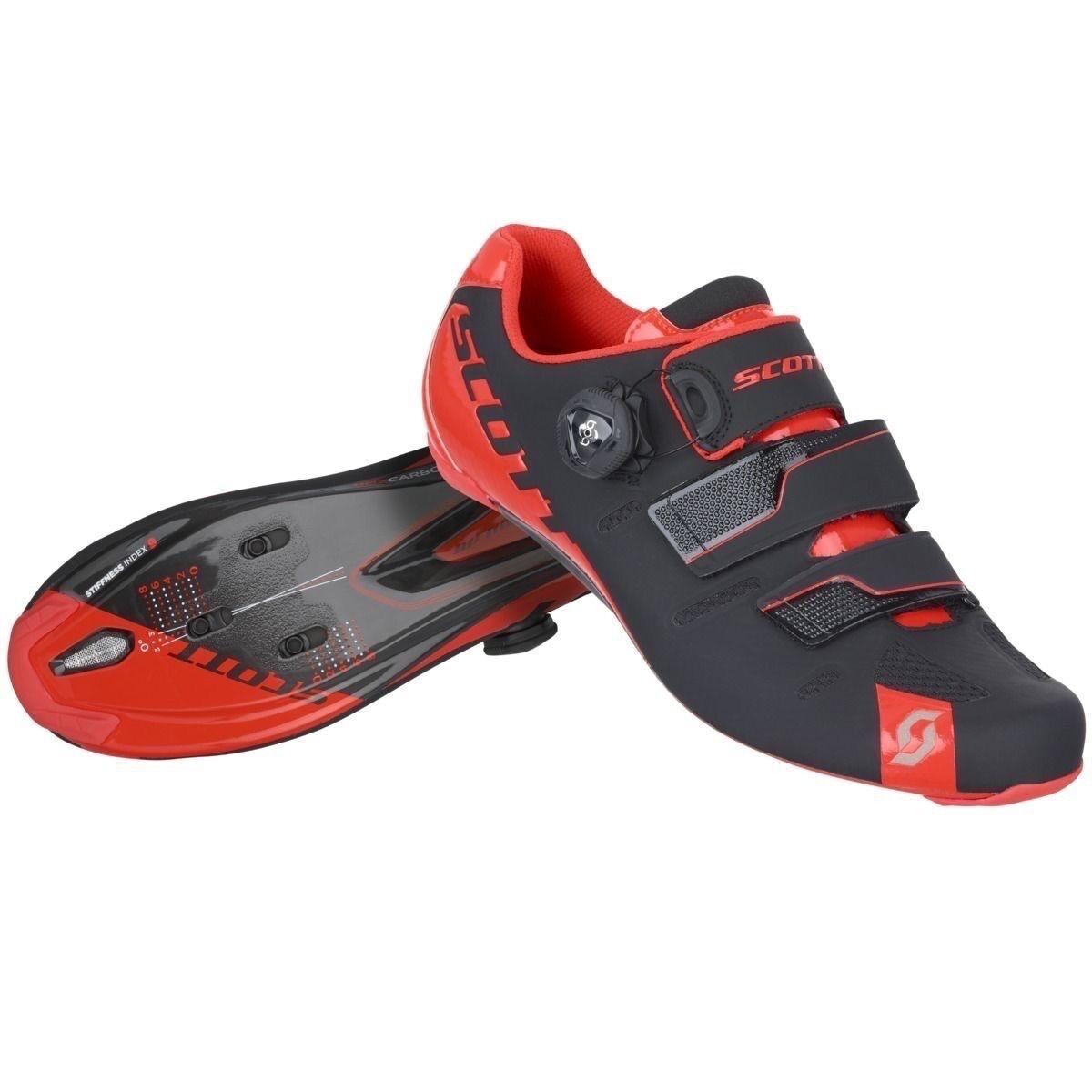shoes SCOTT ROAD PREMIUM color black-red NEON taglia 46