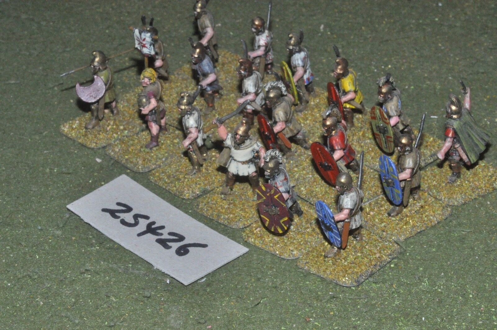 25mm classical   thracian - peltasts 18 figures - inf (25426)
