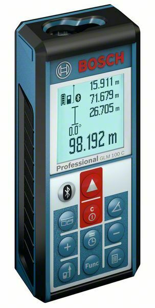 Bosch Laser-Entfernungsmesser GLM 100 C inkl. Schutztasche 0601072700
