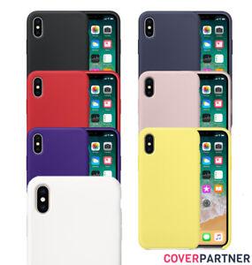 Fuer-Original-iPhone-X-iPhone-XS-Silikon-Case-Handyhuelle-Schutz-Huelle-Cover