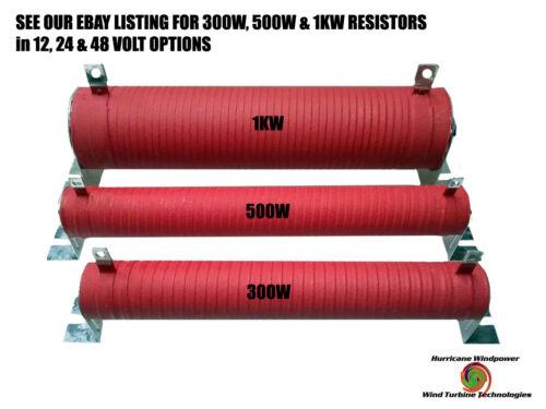 9 Ω 300 WATT 48 VOLT WIND GENERATOR /& SOLAR RESISTOR DIVERSION DUMP LOAD RED