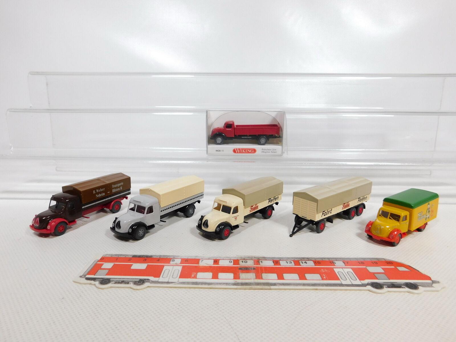 Ca537-0, 5  5x Wiking 1 87 h0 camión Magirus  0426 + Fulda + Malta-llena de cerveza etc, S.G.