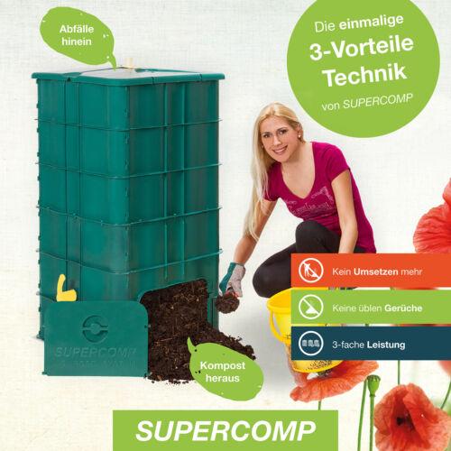SUPERCOMP Komposter Schnellkomposter Thermokomposter ohne Umsetzen aus PP