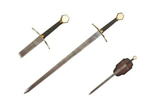 35-034-Medieval-Viking-Warrior-Sword-with-Plaque-Brand-New