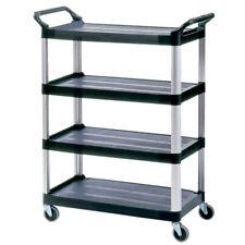 Rubbermaid Commercial 4 Shelf Open Sided Utility Cart