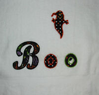 Boo It's A Ghost Hand Towel Applique - Halloween Towel