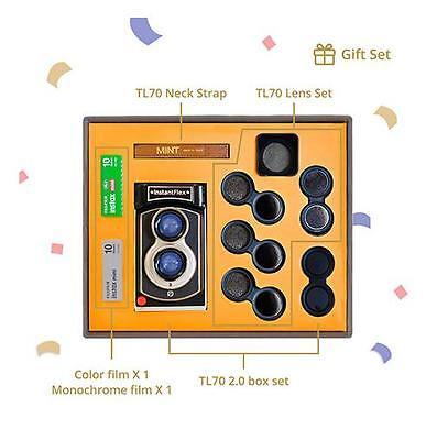 MiNT TL70 2.0 Flex Twin-Lens Instant Camera Gift Set with Fuji instax mini film