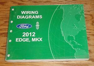 original 2012 ford edge lincoln mkx wiring diagrams manual 12 ebay rh ebay com 2007 lincoln mkx wiring diagram 2007 lincoln mkx headlight wiring diagram