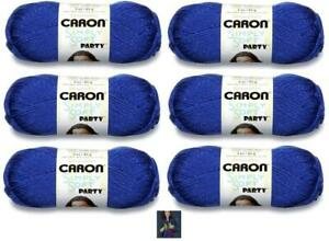Yarnspirations-Caron-Simply-Soft-Party-Yarn-6-Pack-Royal-Sparkle-Blue-Knitting