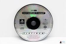 PlayStation ps1 juego de Crash Bandicoot 3 Warped-sólo CD