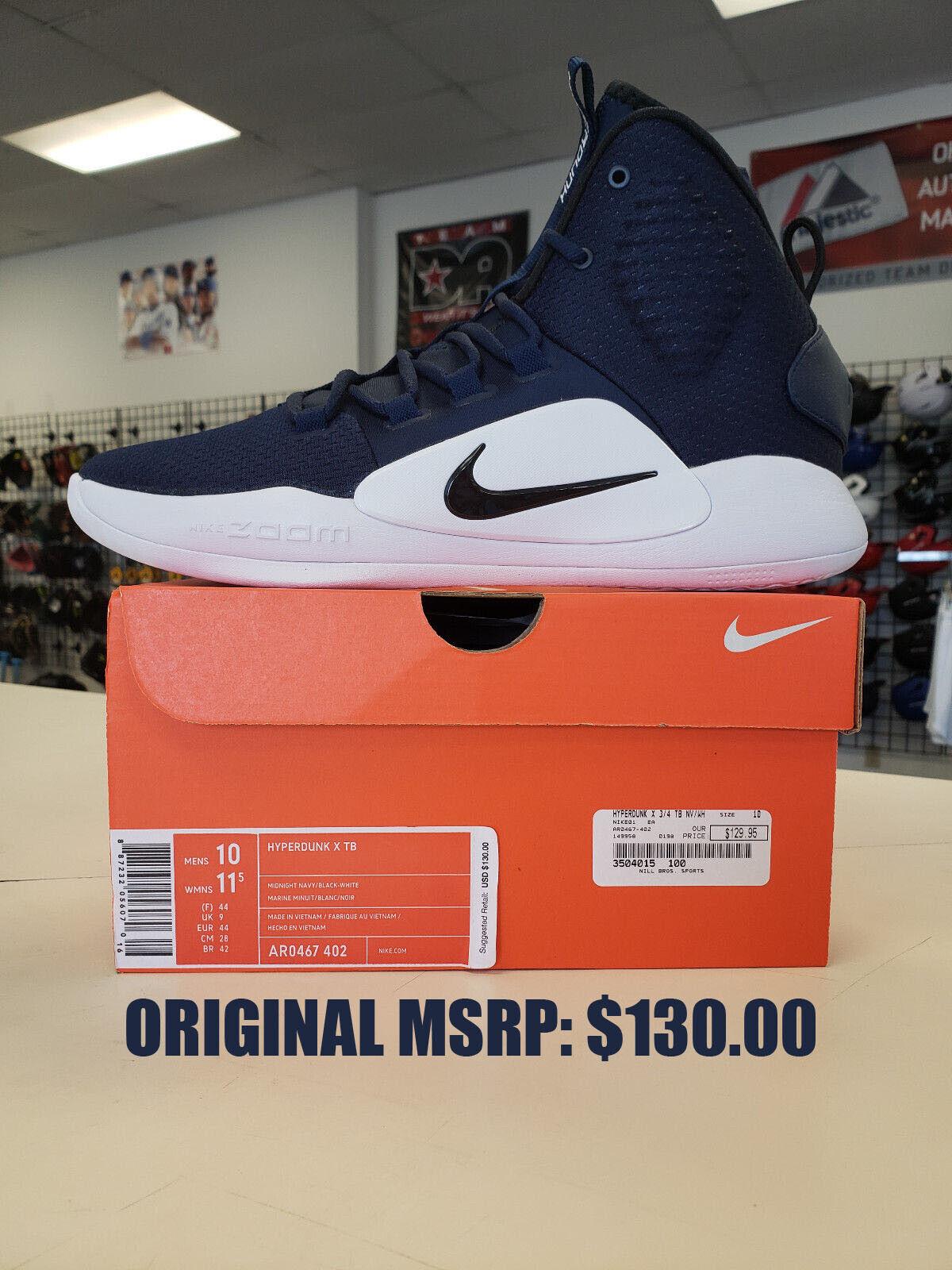 2018 Nike HYPERDUNK X TB Basketball - Midnight Navy - AR0467-402