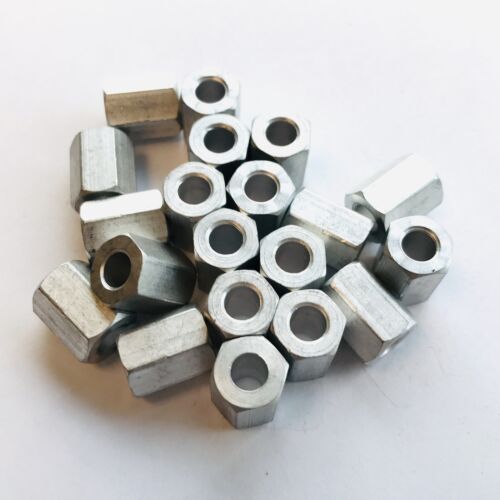 """Aluminum 0.192"""" ID 3//8"""" Hex 1//2"""" L Spacer PKG of 20"""