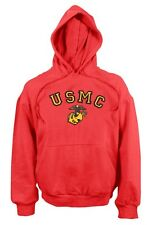 USMC US Marines RED HOODED Army PULLOVER Kapuzen SWEATSHIRT Hoody XXLarge