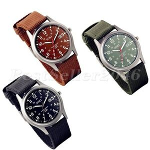Men-039-s-Army-Military-Date-Luminous-Nylon-Canvas-Sport-Quartz-Analog-Wrist-Watch