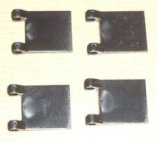 Lego 4 Fahnen / Flaggen in schwarz (2 x 2)