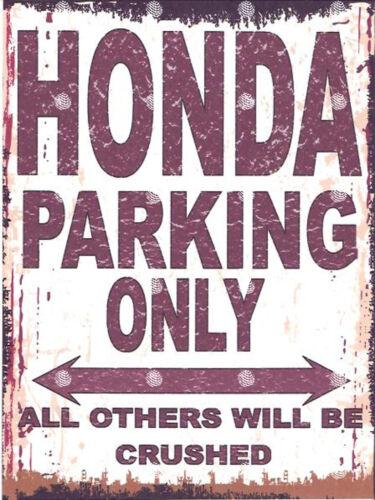 HONDA PARKING SIGN RETRO VINTAGE STYLE 6x8in 20x15cm garage workshop art