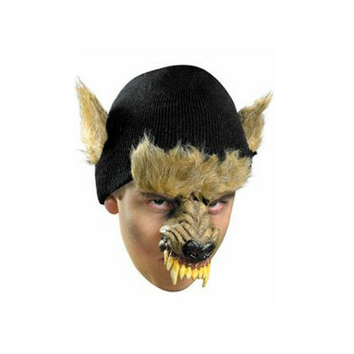DECOMPOSED WEREWOLF KNIT BEANIE CHINLESS HALLOWEEN COSTUME ACCESSORY ONE SIZE