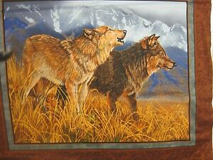Territorial Wolf Trail By The Panel Fabric John Lofgreen Brown Wild