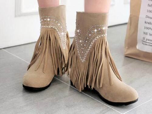 Aiguilles Beige Rouge Chaussures Noir 6 Jaune Franges Talons Femmes Pour Bottes 1HRA5WqW