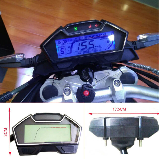 Dc12v Universal Motorcycle Rpm Lcd Digital Odometer