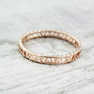 18K-Rose-Gold-GP-Ladies-Cute-Filigree-Band-Wedding-Engagement-Love-Heart-Ring