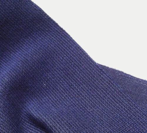 Navy blue wool blend fabric Vintage dress material Tubular knit Nautical pirate
