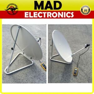 75cm-Portable-Satellite-Dish-Kit-10m-Lead-w-Carry-Bag-for-Caravan-Vast-Foxtel