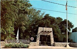 Vtg 1970's Indian Temple Mound Museum Ft Walton Beach Destin Florida FL Postcard