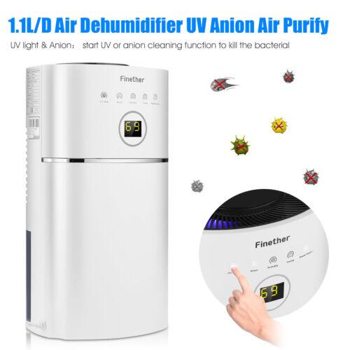 1.1L//D Ultraschall Luftbefeuchter Anion UV Air Purify Reiniger Air Dehumidifier