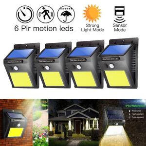 48-COB-LED-Solar-Power-PIR-Sensor-Wandleuchte-Draussen-Wasserdicht-Garten-Lampe