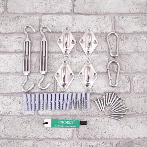 Stainless Steel Sun Fixing Fittings Sail Shade Kits Garden Awning Canopy Tools
