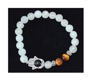 Moonstone-with-Tiger-Eye-Energy-Spiritual-Healing-Happiness-Love-Hamsa-Bracelet