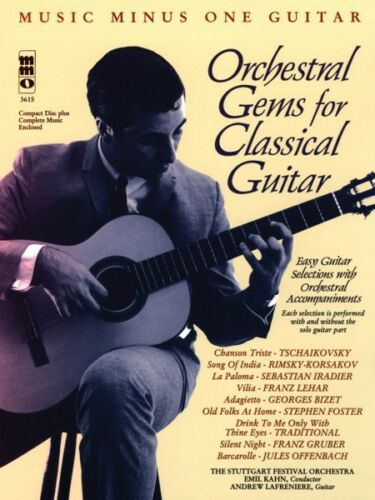 Orchestral Gems for Classical Guitar Sheet Music Minus One Book and CD 000400064