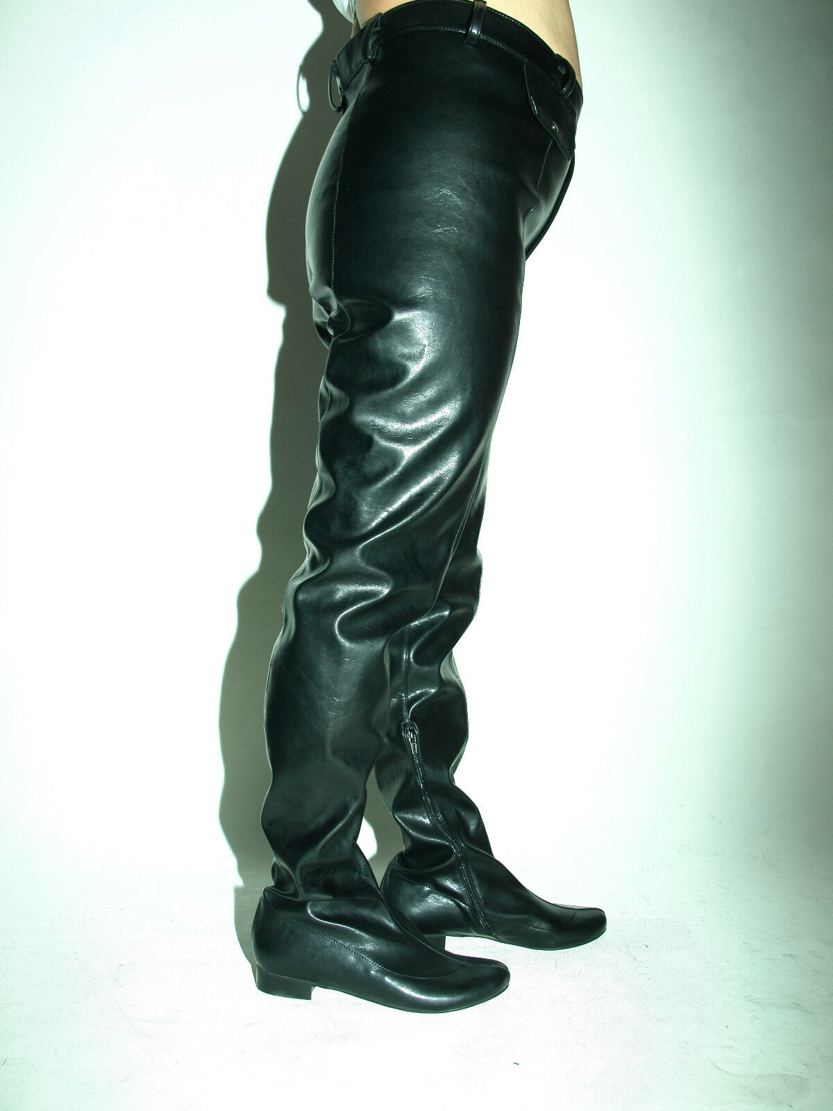 High Heel Hosen-Stiefel Kunstleder 35 36 37 38 39 40 41 42 43 44 45 46 47 *FS1