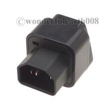 5 Pcs US UK EU AU to IEC 320 C14 Travel Adapter AC Power Plug Connector *Black