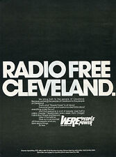 1972 Radio Free Cleveland AM 1300 WERE People Power Print Ad