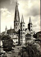 Bonner Münster Bonn Kirche Church Ansichtskarte postcard alte Postkarte um 1960
