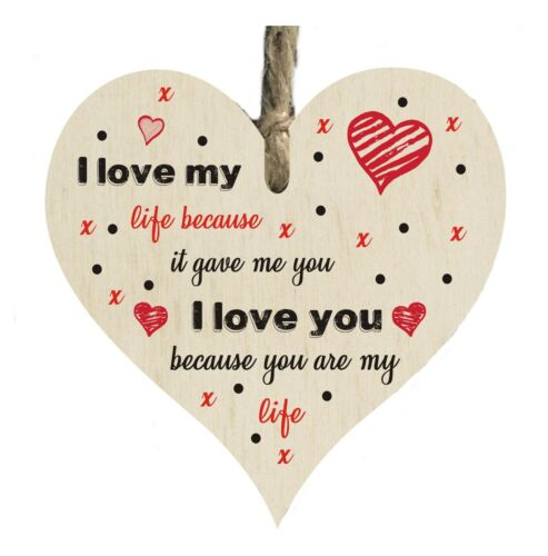 Love My Life Romantic Quote Wooden Novelty Plaque Sign Gift htc31