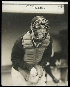 Red-Dooin-1910-Phillies-Catcher-George-Bain-Type-1-Original-Photo-Crystal-Clear