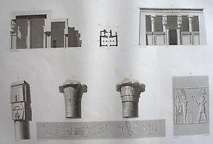 Belle Environs D'esne (contralato). (pl. 89, A. Vol. I). Plan Coupe Description Egypte