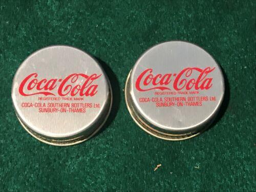 (2) London Large Coca Cola Bottle Caps Sunbury-On-Thames  Check Size