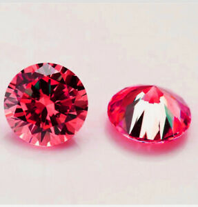 Luxury-14k-Gold-over-Stud-Earrings-with-Solitaire-Round-Cut-Ruby-Stones