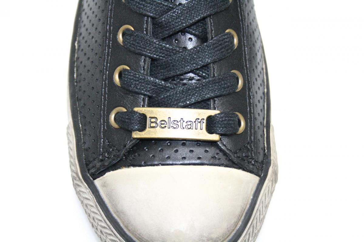 LUXUS BELSTAFF SNEAKER SCHUHE 757205 NEW JAIR LOW VENT BLACK NEU 37 37,5