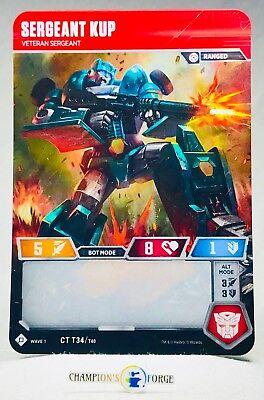 Transformers TCG-Wave 1 Sergeant KUP CT T34//T40