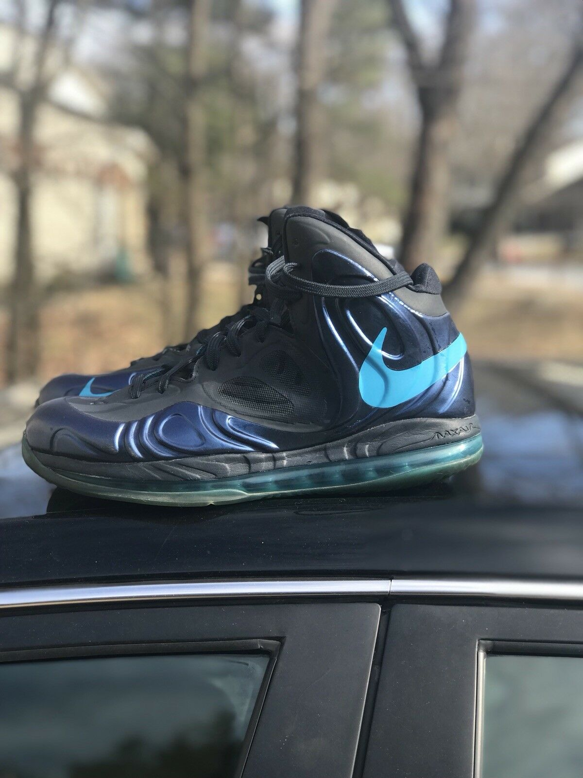 Nike Air Max Hyperposite Obsidian Blue Basketball Shoes U.S. Men's Size 10