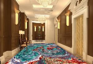 Color Abstracto 3D 572 Impresión De Parojo Papel Pintado Mural de piso 5D AJ Wallpaper Reino Unido Limón