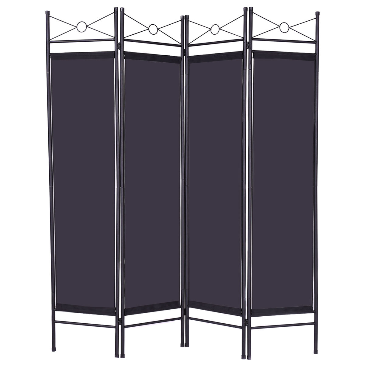 Folding screen room divider foldable wall free standing for Wall screen room divider