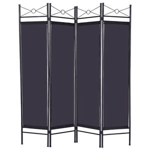 folding 4 panel room divider screen privacy wall movable partition