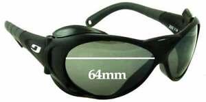 Ultimate Black Gradient Hardcoat Pair-Polarized SFx Replacement Sunglass Lenses fits Von Zipper Mod Con 64mm Wide